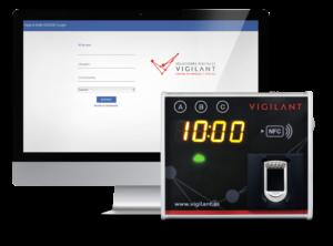fichador biométrico - control horario - vigilant