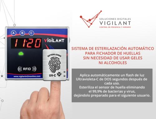 Sistema de esterilización automático para Fichador Biométrico